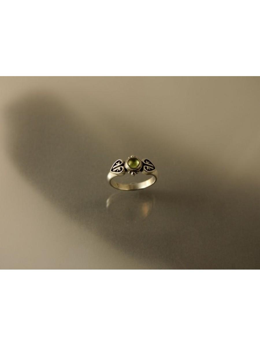 Köves avarlevél gyűrű