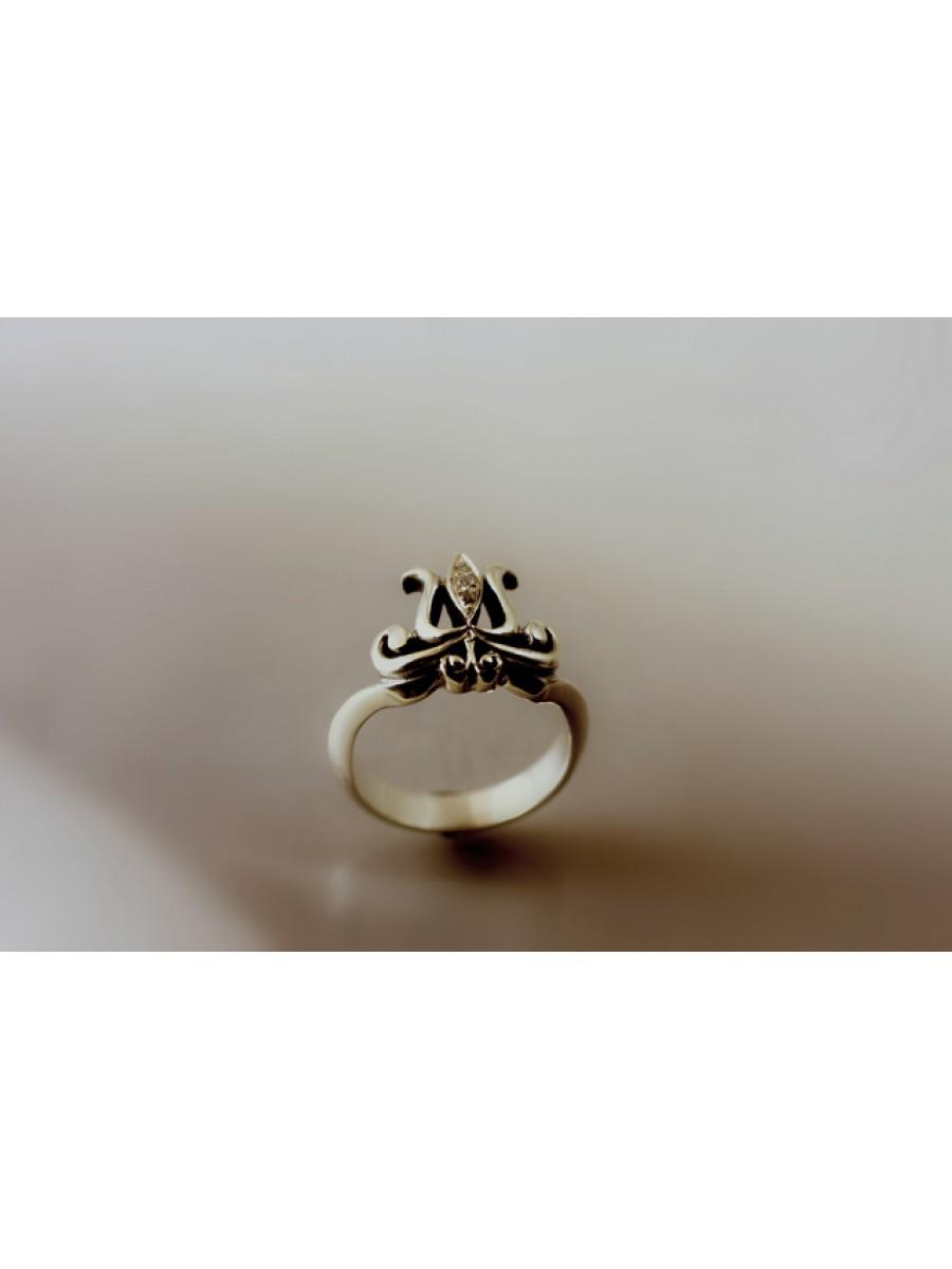 Köves székely tulipán gyűrű