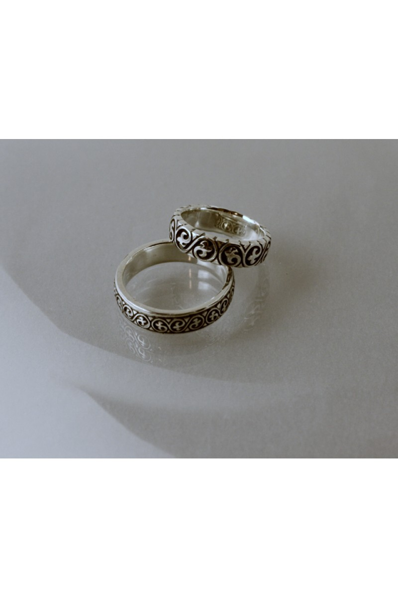 Domború hun indás karikagyűrű
